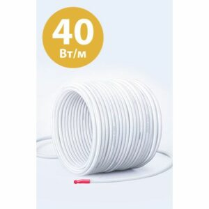 Греющий кабель мощностью 40 Вт/м — 1м